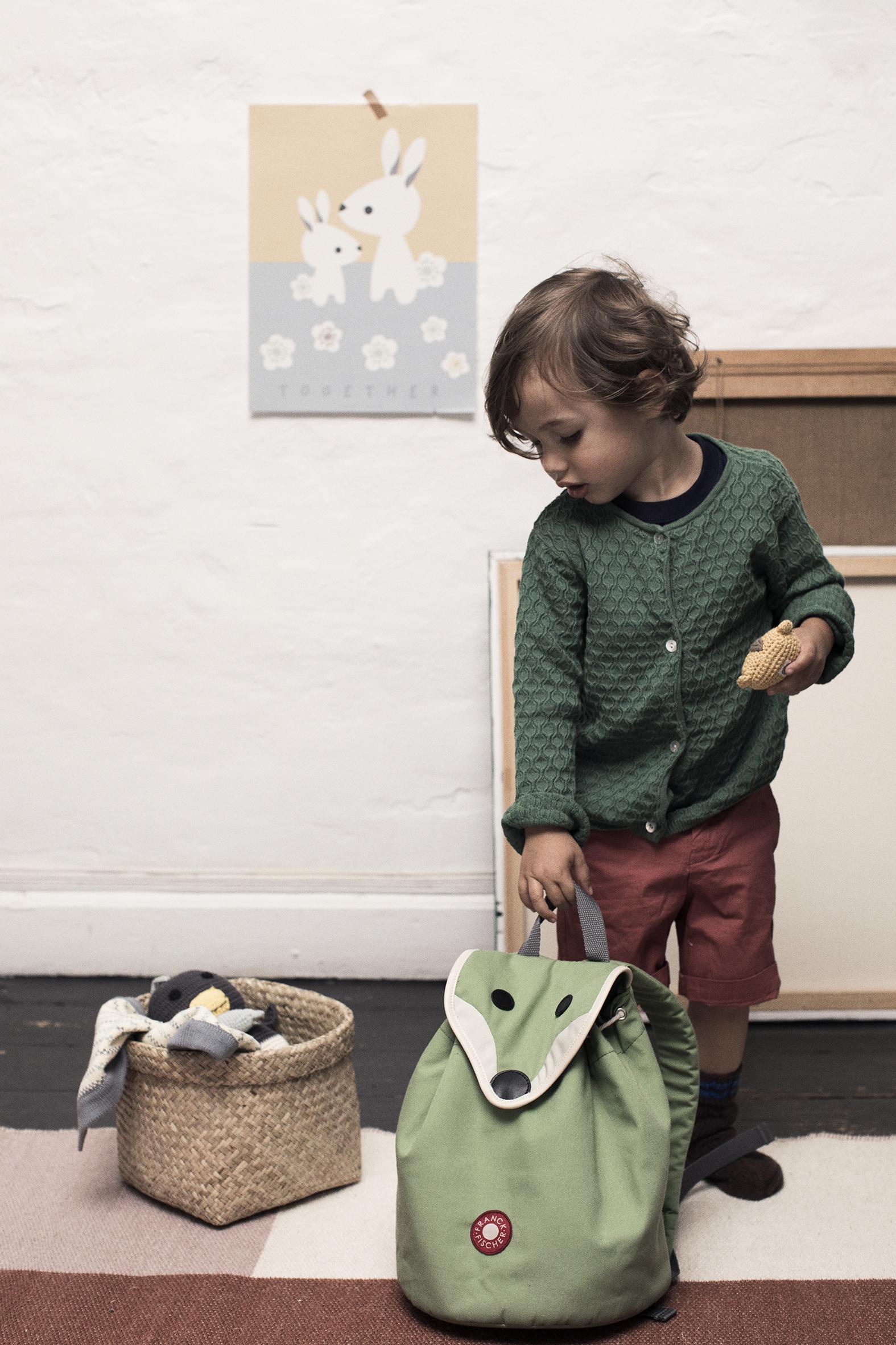 Hilda Green Fox Backpack Danish Design By Franck Amp Fischer