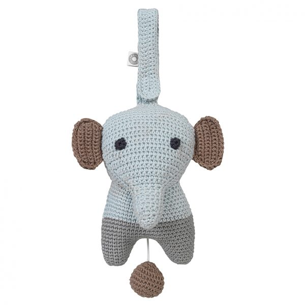 Hella grey elephant musical toy