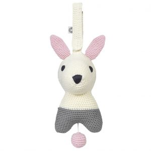 Hella white rabbit musical toy