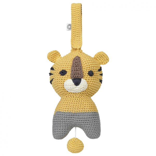 Hella yellow tiger musical toy