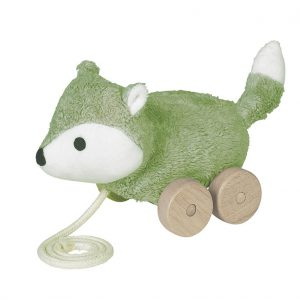 Mingus green fox pull toy
