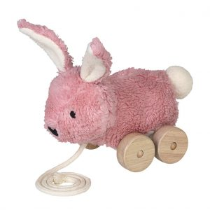 Mingus pink rabbit pull toy
