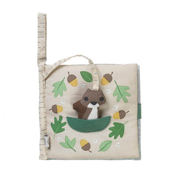 So hungry - squirrel fabric book