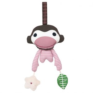 Asger pink monkey activity toy