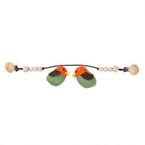 Astrid orange pram rattle