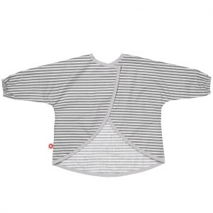 Dirt grey stripes apron