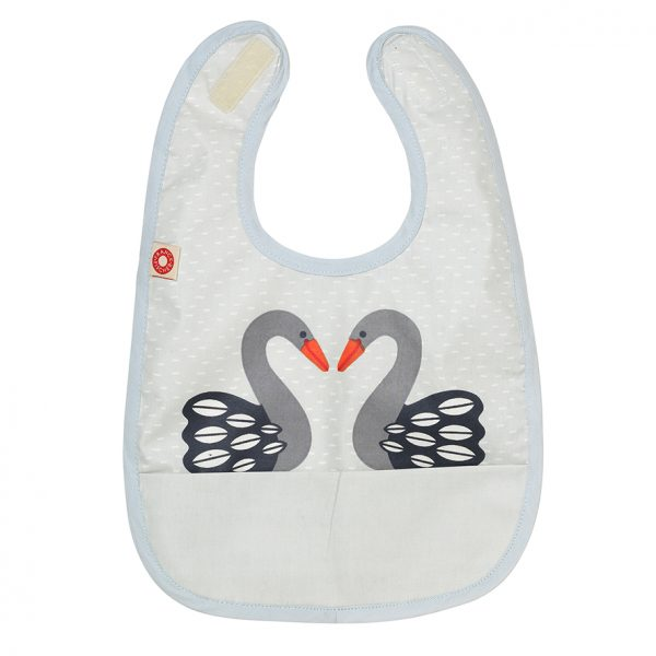 Eat grey swan bib
