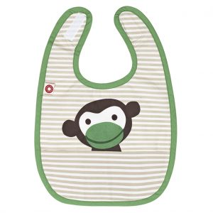 Eat khaki monkey bib