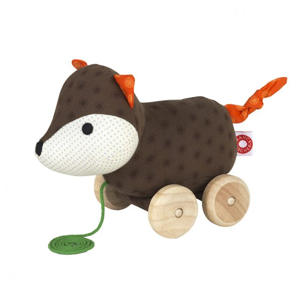 Ejner fox pull toy