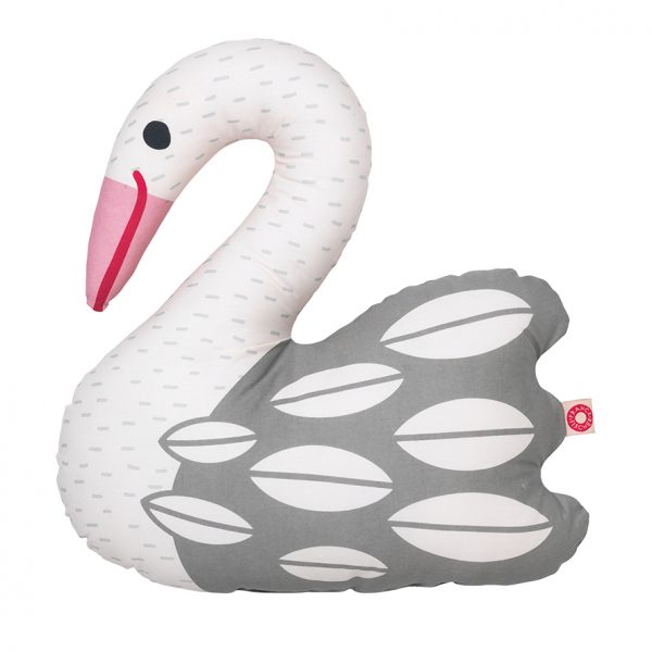 Ellen light swan cushion