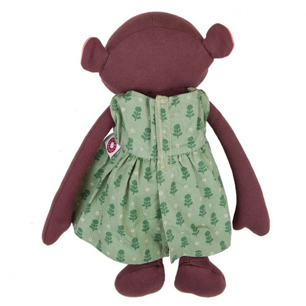 Frida monkey green dress