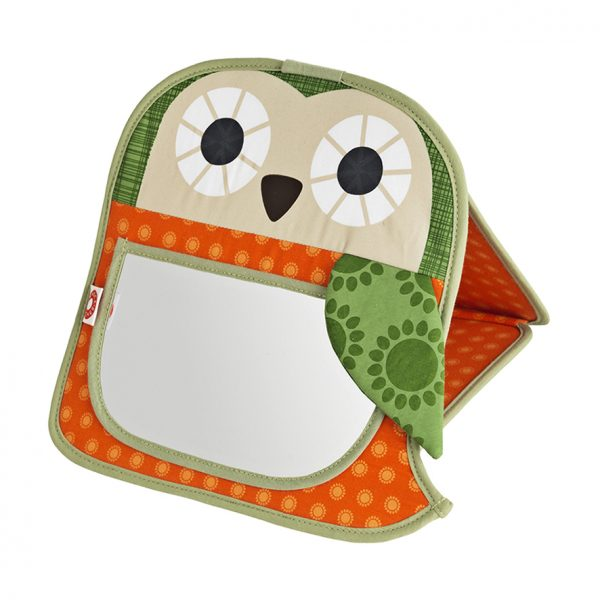 Grete orange owl mirror
