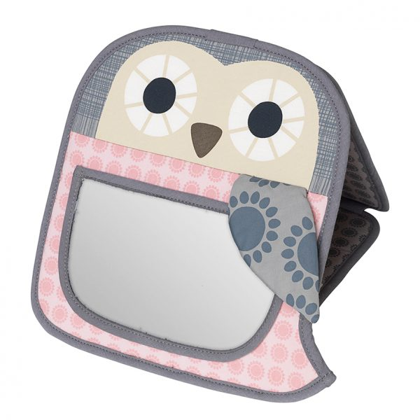 Grete pink owl mirror
