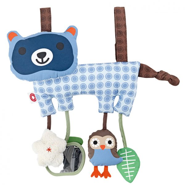 Hasse blue raccoon activity toy