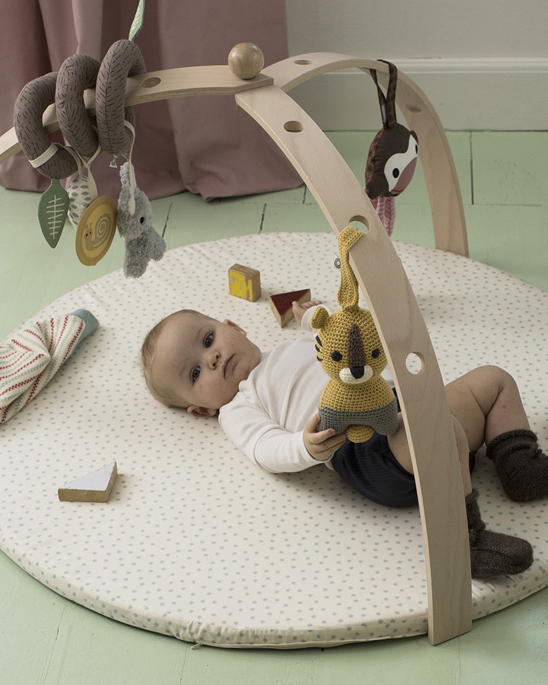 BabySpyder wood baby gym