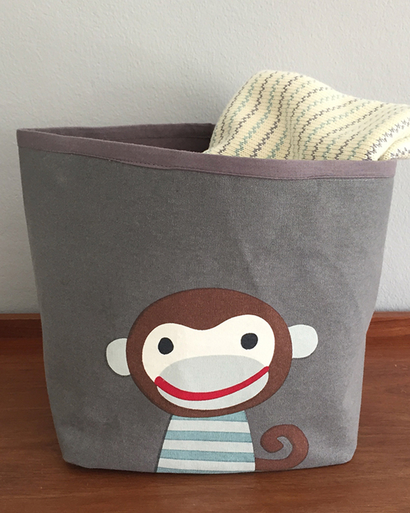 Ida dark monkey storage bin
