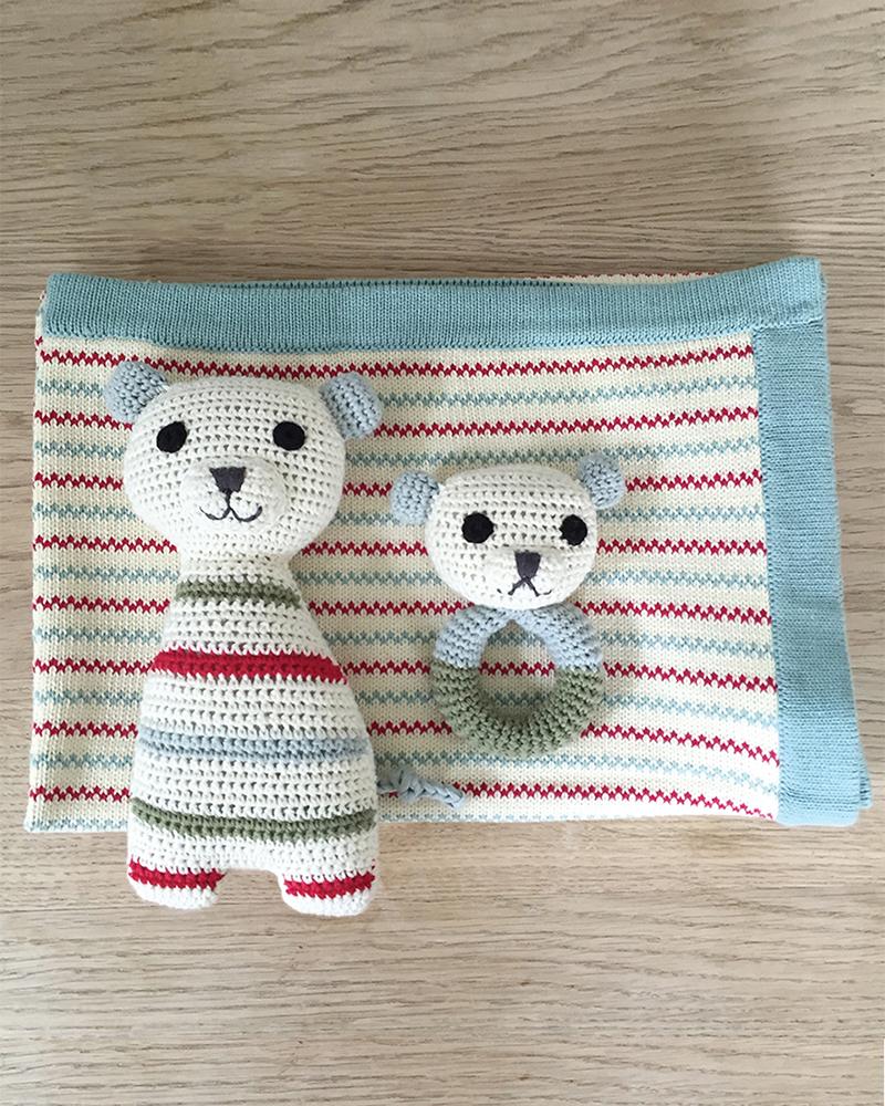 Isak polar bear cuddly toy