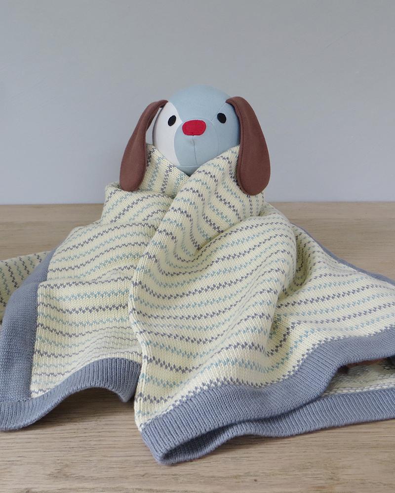 Pippi grey knit blanket 70x100