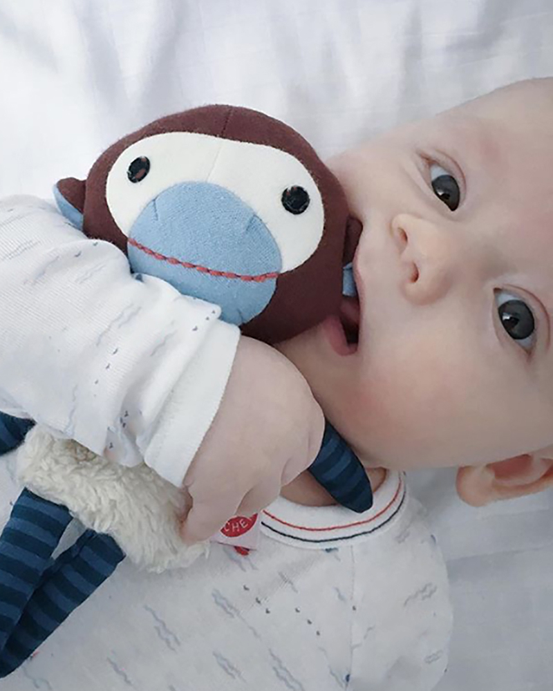 Trisse blue monkey cuddle toy