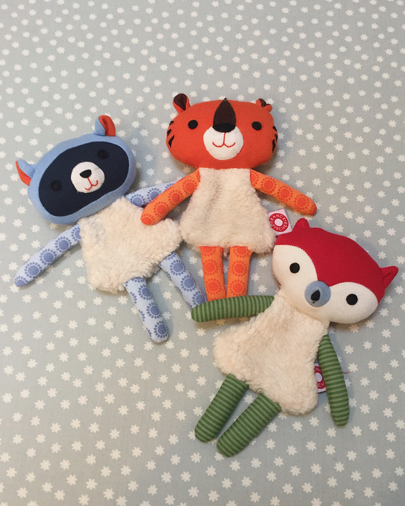 Trisse orange tiger cuddle toy