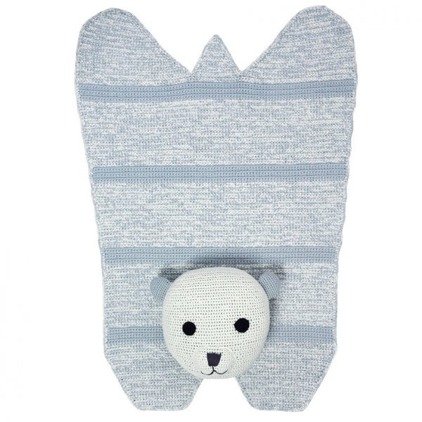 Nellie polar bear crochet rug