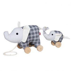 Noma grey elephant pull toy