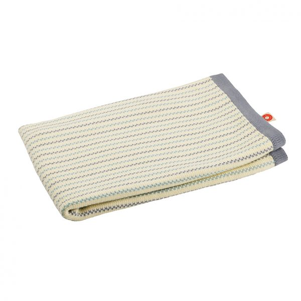 Pippi grey knit blanket 70x100