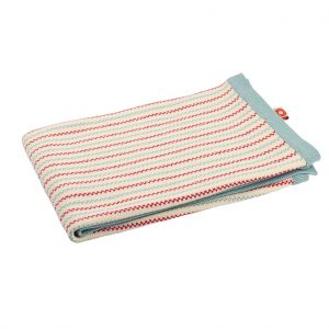 Pippi red knit blanket 70x100