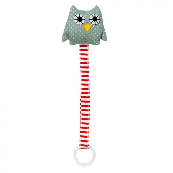 Ring owl green soother holder