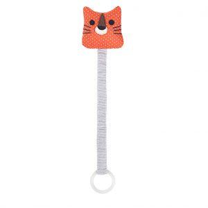 Ring tiger orange soother holder