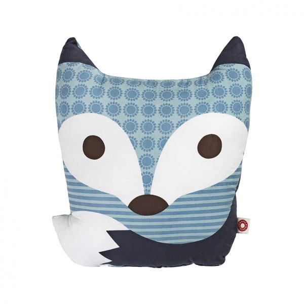 Rufus blue fox cushion