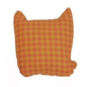Rufus orange fox cushion