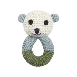 Sally polar bear rattle