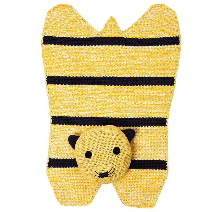 Tim Tiger Hand-crochet Organic Rug