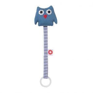 Ring owl blue soother holder