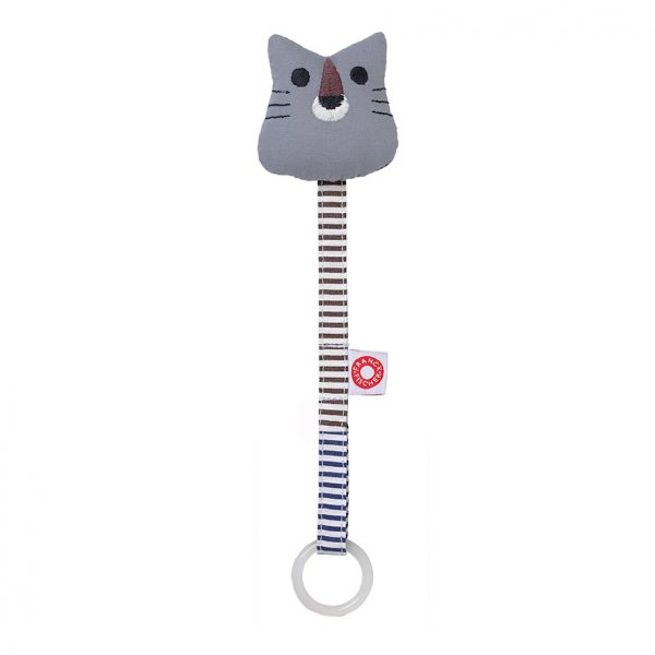 Ring tiger grey soother holder